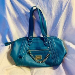 Nine West satchel bag with chain accents